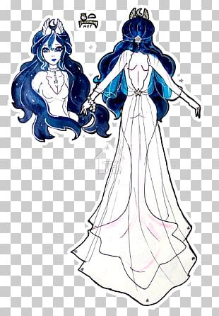 Woman Illustration Gown Human Legendary Creature PNG