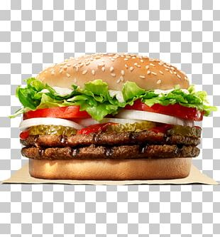 Whopper Hamburger Cheeseburger Big King Chicken Sandwich PNG