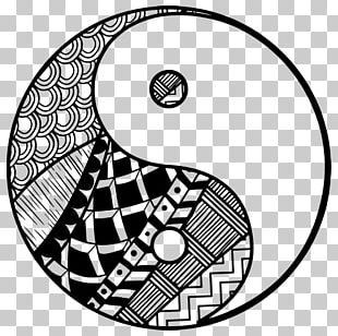 Black And White Yin And Yang PNG