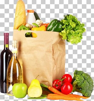 Paper Bag Shopping Bags & Trolleys Vegetable Grocery Store PNG