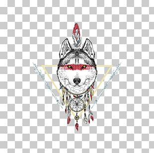 Indian Wolf T-shirt Drawing Native Americans In The United States Illustration PNG