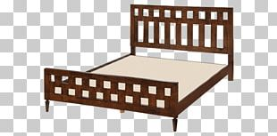 Bed Frame Couch Mattress Wood PNG