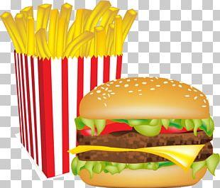 Hamburger French Fries Cheeseburger Fast Food Veggie Burger PNG