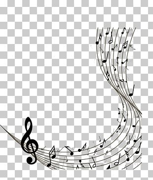 Musical Note Staff PNG