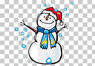 Winter Snowman Christmas Child PNG