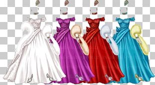 Costume Design Gown Character Pink M PNG