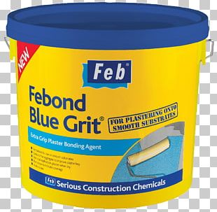 Everbuild Febond Blue Grit Bonding Agent Plaster Binder Building Materials Paint PNG
