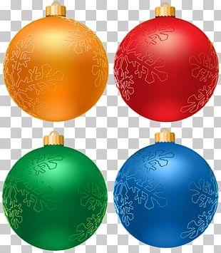 Christmas Balls Set PNG