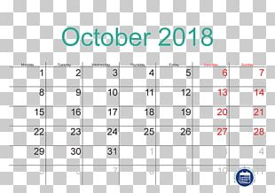Public Holiday Calendar October Time PNG