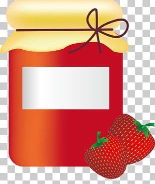 Strawberry Fruit Preserves Jar PNG