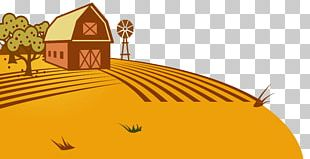 Hand-painted House Land PNG
