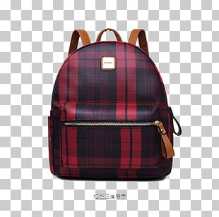 Red Backpack Designer Bag PNG