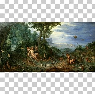 Landscape Painting Landscape With The Temptation Of Christ Museum Of Fine Arts Of Lyon PNG