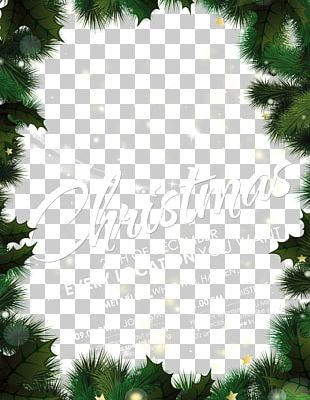 Christmas Tree New Year Poster PNG