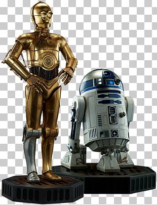 C-3PO R2-D2 Star Wars Sideshow Collectibles Model Figure PNG