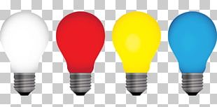 Incandescent Light Bulb Color Lighting PNG