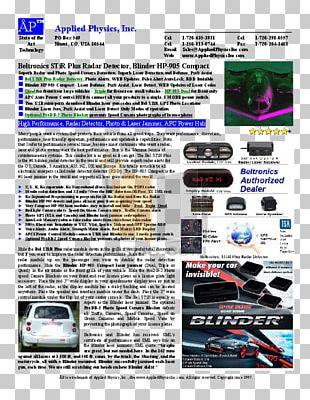 Radar Detector Traffic Enforcement Camera Radar Jamming And Deception Technology PNG