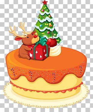 Christmas Cake Birthday Cake Santa Claus PNG