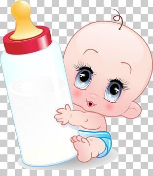 Infant Cartoon Baby Bottle PNG