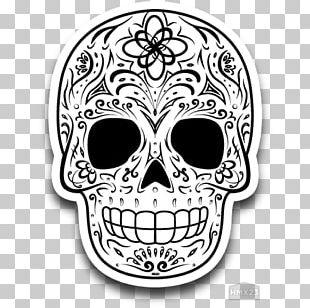Calavera Skull Day Of The Dead Calaca Halloween PNG