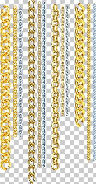Gold Euclidean Chain PNG