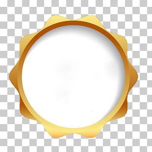 Label Orange Circle Frame PNG