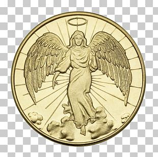 Silver Coin Angel Gold Medal PNG