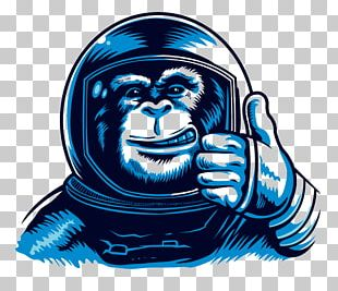 Chimpanzee Monkeys And Apes In Space Astronaut Space Suit PNG