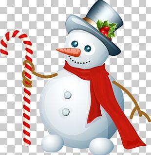 Snowman Christmas Card Santa Claus PNG