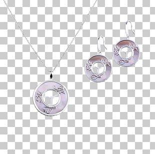 Locket Earring Amethyst Jewellery Necklace PNG