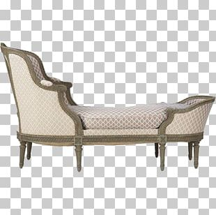Chaise Longue Couch Chair Furniture Louis XVI Style PNG