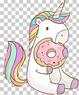 Donuts Unicorn Kavaii YouTube Desktop PNG