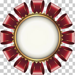 Earring Red Circle Gold PNG