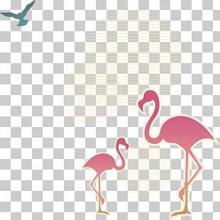 Flamingos Bird Crane Icon PNG