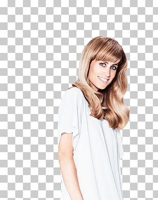 Blond Hair Coloring Bangs Long Hair PNG