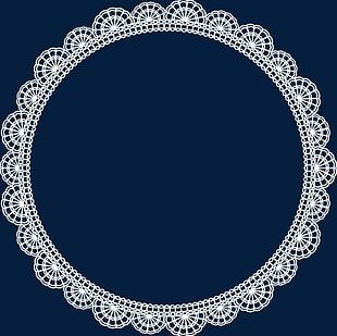 Round White Lace Border 03 PNG