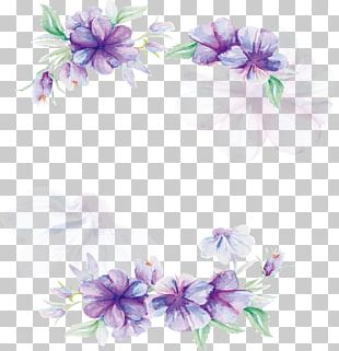 Floral Design Lilac Flower Pattern PNG