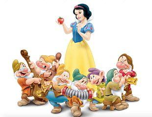 Snow White Queen Magic Mirror Seven Dwarfs Bashful PNG