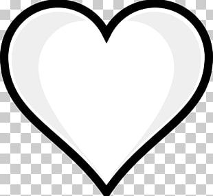 Heart Black And White Valentine's Day PNG