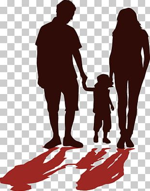 Father Silhouette Family PNG
