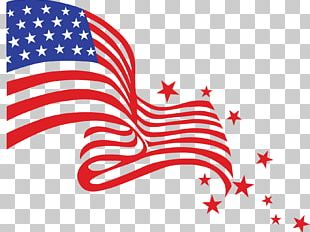Happy Fourth Of July Flag PNG