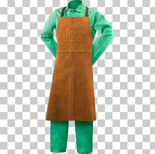 Apron Welding Bib Leather Cowhide PNG