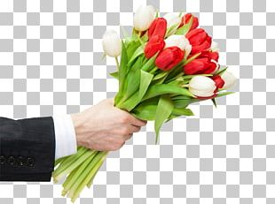 International Women's Day 8 March Tulip Flower Bouquet PNG