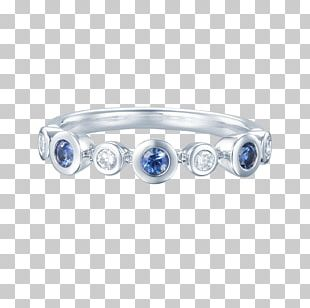 Sapphire Body Jewellery Silver Bangle PNG