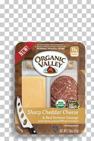 Organic Food Meat Jerky Salami Organic Valley PNG