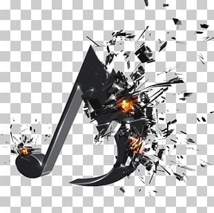 Musical Note 3D Computer Graphics Explosion PNG