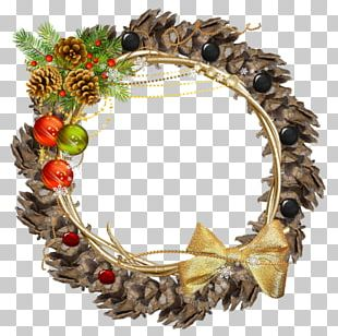 Wreath Crown Flower Christmas Ornament PNG