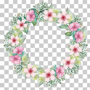 Paper Flower Bouquet Wreath PNG