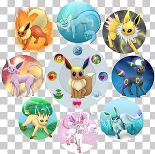 Eevee Umbreon Espeon Pikachu Pokémon PNG