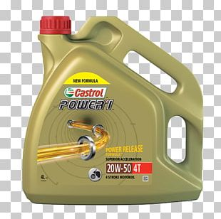 Motor Oil Castrol Four-stroke Engine Motorcycle Lubricant PNG